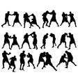 boxing silhouettes vector image