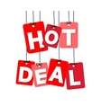 colorful hanging cardboard Tags - hot deal vector image