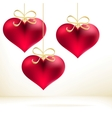 Holiday card with hand drawn hearts EPS8 vector image