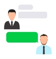 modern business agents with bubble speech vector image