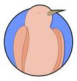 nightingale sticker icon cartoon vector image