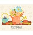 Tea Ceremony Hand Drawn Design vector image