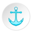 Anchor icon cartoon style vector image vector image
