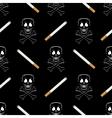 Burning Cigarette and Skull Seamless Pattern vector image