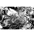 Black and white liquid texture watercolor hand vector image