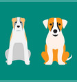 funny cartoon dog character bread cartoon puppy vector image vector image
