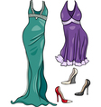 women clothes objects cartoon set vector image