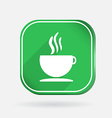 Cup of hot drink Color square icon vector image