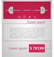 Flat minimalist template business design Barbell vector image