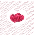 Love note card - text pattern with hearts EPS 10 vector image