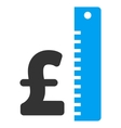 Pound Rate Flat Icon Symbol vector image