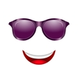 Abstract Fun Face with Mouth and Sunglasses vector image
