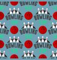 bowling emblem seamless pattern background vector image