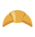croissant colorful bakery product icon vector image