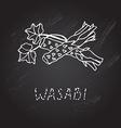hand drawn wasabi vector image