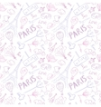 Paris Symbols Pattern vector image