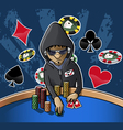 poker face vector image