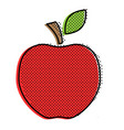 red stylized apple vector image