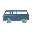 van car silhouette isolated on white vector image