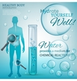Water Chemical Reactions vector image