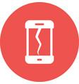 broken cell phone vector image