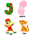 J alphabet vector image