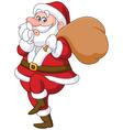 sneaky santa vector image