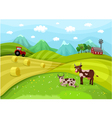 farmlandscape vector image vector image