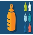 Flat design baby bottle vector image