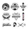Barber shop badges set vintage vector image