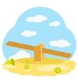 Children wooden swing vector image