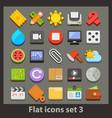 flat icon-set 3 vector image