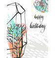 hand drawn abstract unusual universal happy vector image