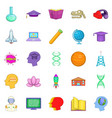 resource icons set cartoon style vector image