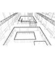 warehouse sketch vector image