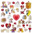 valentine big cartoon collection vector image