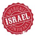 Israel stamp rubber grunge vector image