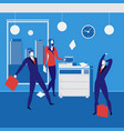office workers concept in flat vector image