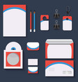 red and blue mock upstemplates for business vector image