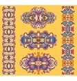 ornamental ethnic yellow floral adornment vector image