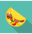 Breakfast Omelet Icon in Modern Flat Style vector image