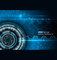 background with futuristic elements vector image