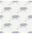 Bear seamless pattern with triangles on vector image