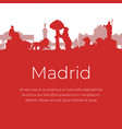madrid spain landmarks and monuments vector image