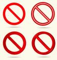 No sign set vector image