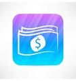 paper money icon vector image