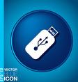 usb flash icon disk vector image