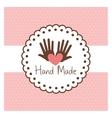 Hand Made label handmade crafts workshop vector image