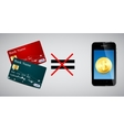 Credit card and Phone vector image vector image