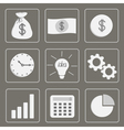Business icons Set Grey vector image